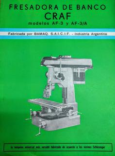 Manual Fresadora De Banco Graf