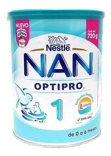 Fórmula para lactantes en polvo Nestlé Nan OptiPro 1 en lata de 720g
