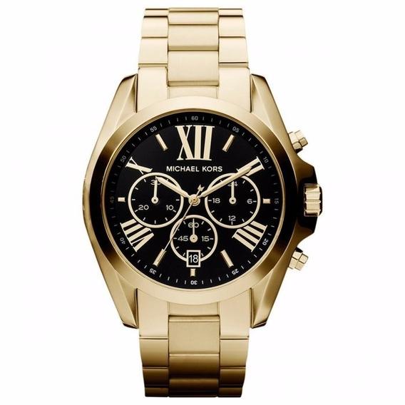 Relógio Michael Kors Feminino Bradshaw Mk5739/4pn Dourado