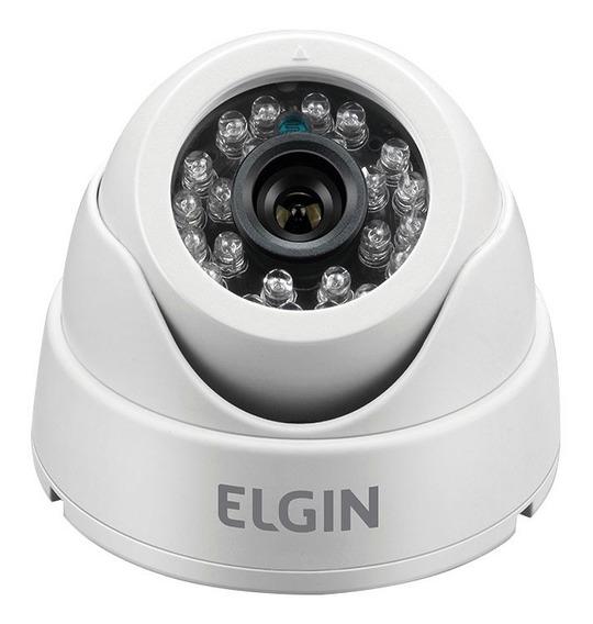 Câmera De Segurança Infravermelho Dome 800 Tvl Branca Elgin