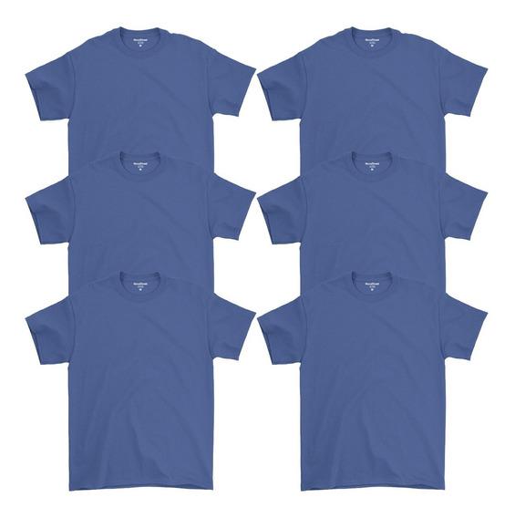 Kit 6 Camisetas Masculinas Básicas Lisa Algodão 30.1 Premium