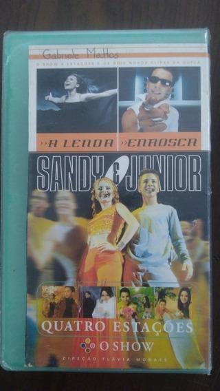 Fita Video Vhs Sandy Junior Quatro Estações