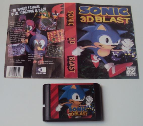Sonic 3d Blast Com Encarte Para Mega Drive