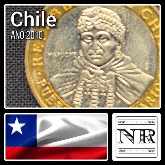 Chile - 100 Pesos - Año 2010- Bimetálica Km # 236