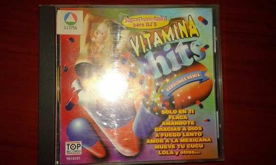 Cd Vitamina Hits Super Enganchados Para Dj