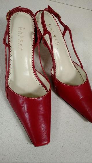 Zapatos Ralph Lauren Talle 37 Rojo
