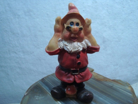 Miniatura Antiga Mestre Branca De Neve E Os Sete Anões *col
