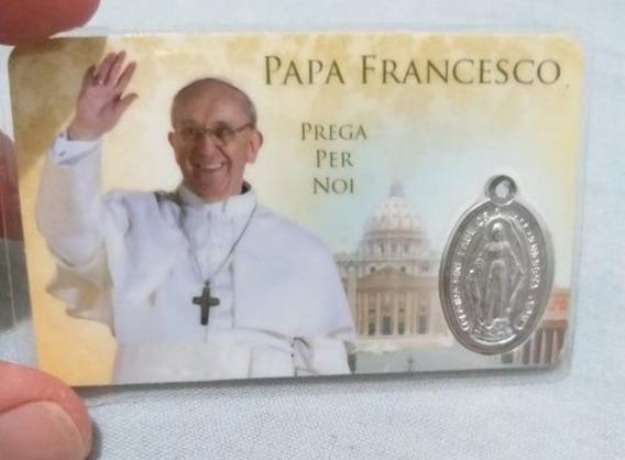 Cartão Papa Francisco Com Medalha Milagrosa - Promoção