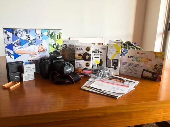 Câmera Canon Eos Rebel T5i Com Lente 18-55
