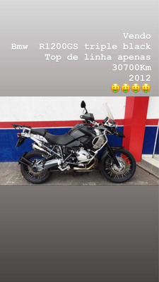 Moto Bmw R1200gs Triple Black Top De Linha