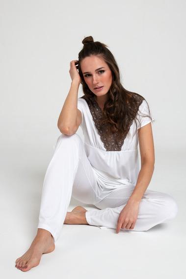 Pijama Mujer Bbz Barbizon Oficial Lace Blanco