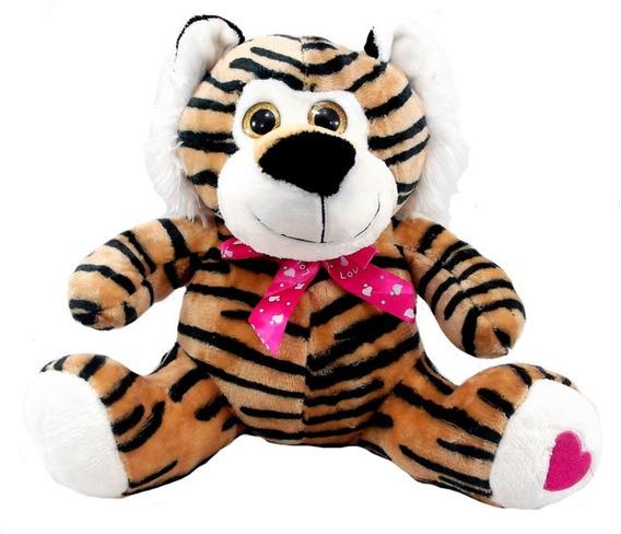 Tigre De Pelúcia 28 Cm Anti-alérgico Lavável Unissex
