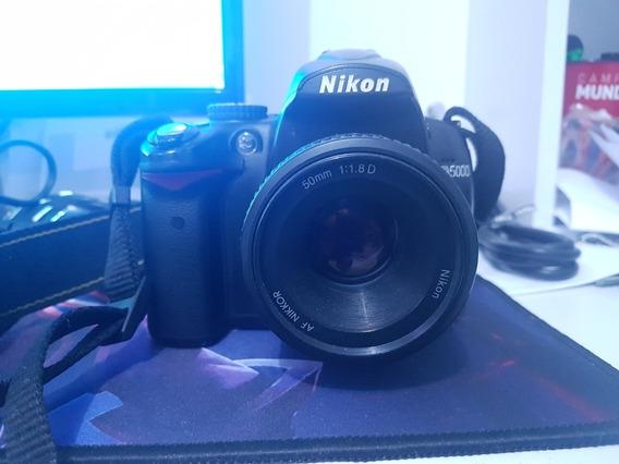 Maquina Nikon D5000, Com Lente Original 18-55mm