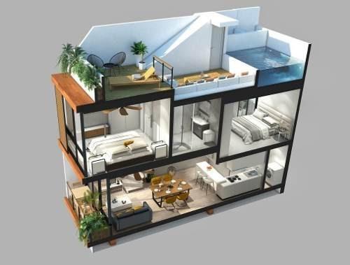 Condo 2 Habitaciones En Aldea Zama Tulum Quintana Roo P2544