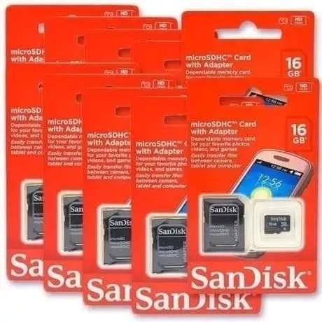 Kit C/ 05 Cartões De Memória Sd Sandisk 16gb Original