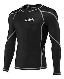 Rash Guard Negro Mma Muay Thai Jiu Jitsu Bjj Fitness Hawk 2
