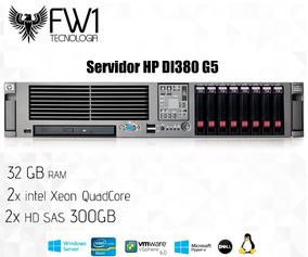 Servidor Hp Dl380 G5 Xeon Quadcore 2.2ghz 32gb 2x300gb