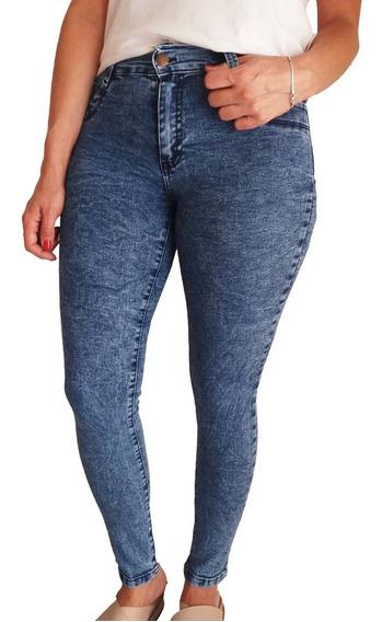 3 Jeans Por Mayor Chupín Elastizado Tiro Alto