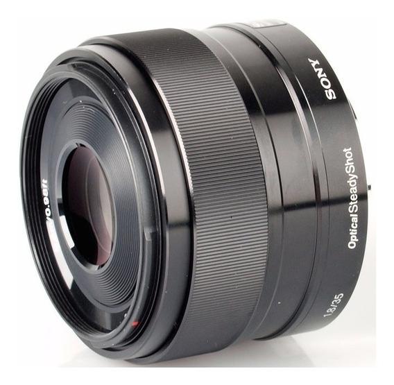 Lente Sony Sel, E-mount 35mm 1.8 Oss Estab. Nex, A6300, A7