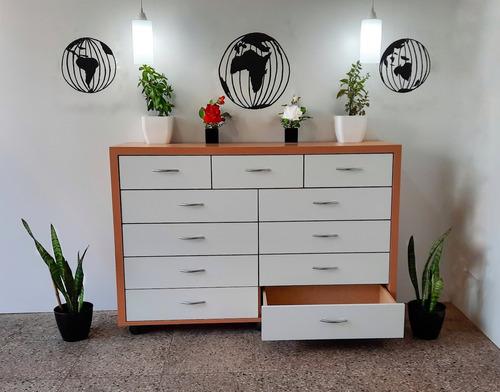 Imagen 1 de 9 de Diseños Fdg. Cómoda Cajonera Dormitorio 11 Cajones!!!