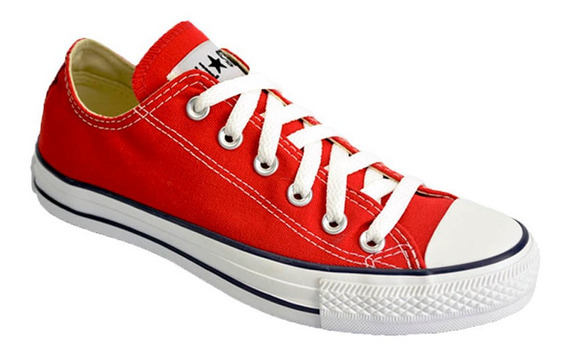 Zapatilla Converse All Star Low Lona Color Original Rojo