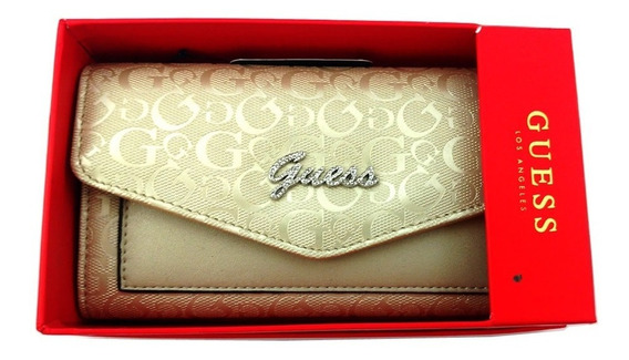 Carteira Feminina Guess Original Dourada Pale Gold