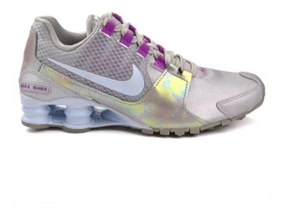Tênis Nike Shox Avenue Se Prata/roxo Original