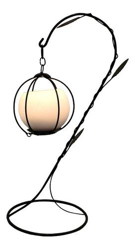 Lustre Gaiola Bola Luminária Porta Vela Decorativo Castiçal