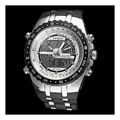 Relógio Militar Elástico Analógico-digital Multi-funcional