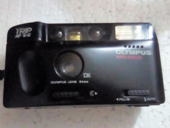 Câmera Analógica Máquina Fotográfica Olympus Trip Af S-2