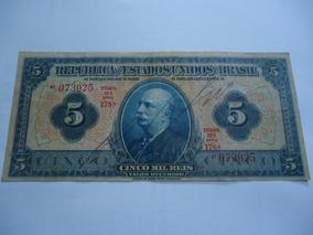 Cédula De 5 Mil Réis De 1936 R 100b Mbc+ Série 178a
