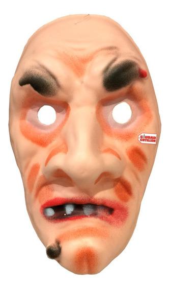 Máscara Bruja Anciana Disfraz Halloween - Ciudad Cotillón