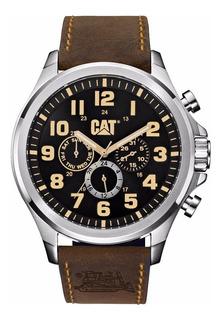 Reloj Cat Caterpillar Pu.149.35.114 Multifunc Cuero Marron