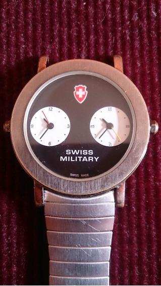 Relógio Military Suiço Dual Time
