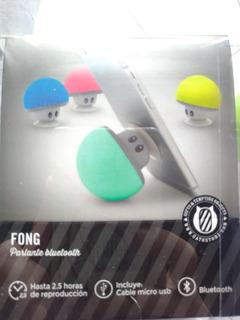 Parlante Bluetooth Inalambrico Mushroom Ventosa Hongo Verde