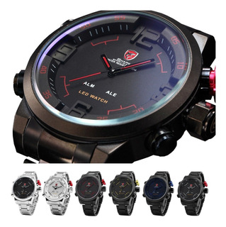 Reloj Shark Sh105 Original Acero Inoxidable Digital-análogo