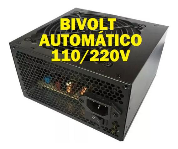 Fonte Atx Bluecase 350w Real Pfc Ativo Bivolt Automatico 110/220v Blu350p Confiável Cooler 12cm 120mm Barata Silenciosa
