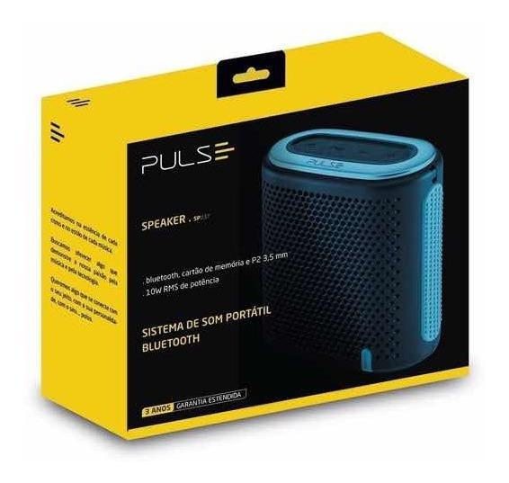 Speaker Pulse Sp-238 Som Portátil Bluetooth