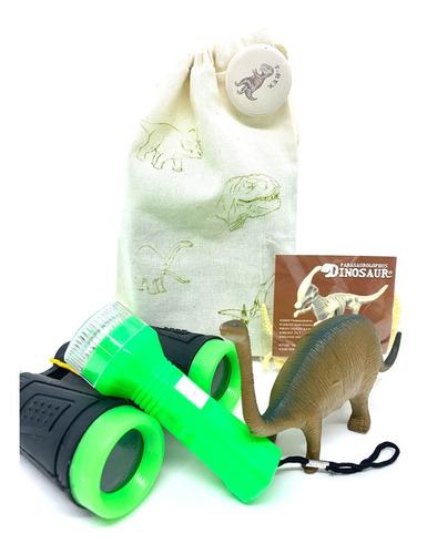 Imagem 1 de 7 de Kit Paleontólogo Dinossauro Aventura Explorador  Na Ecobag
