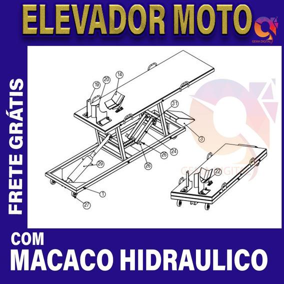 Projeto Pdf Elevador Para Moto Com Macaco Hidráulico