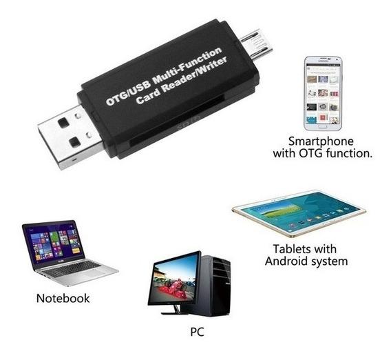Leitor De Cartão Multifuncional Otg Micro Sd / Sd Card / Usb