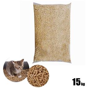 Granulado Higiênico Em Madeira 15kg Areia Para Gato