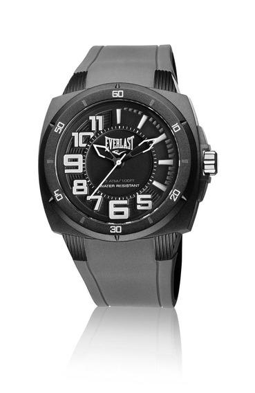 Relógio Everlast Masculino Bold E679 Caixa Abs ,pulseira Si