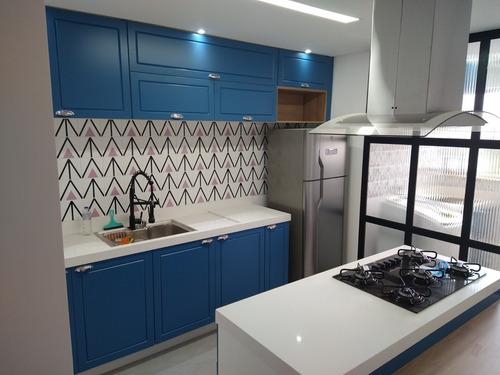 Projeto Móveis Planejados Cozinha 3d + Plano De Corte