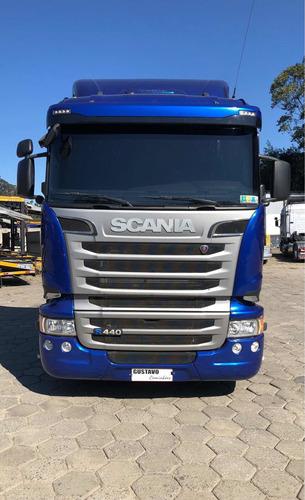 Imagem 1 de 15 de Scania R-440 Streamline 17/17 Azul 6x2 Cegonheiro