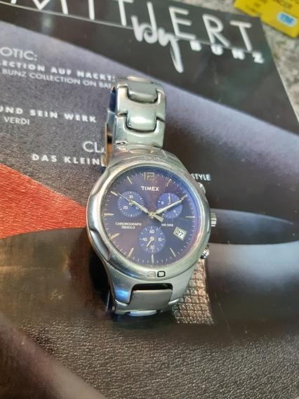 Relógio Timex Chronograph Indiglo Vr 50m / Original