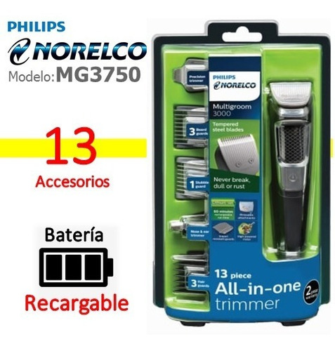 Afeitadora Eléctrica Philips Norelco Original Serie 3000 New