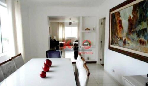 Imagem 1 de 19 de Apartamento Com 3 Dormitórios À Venda, 165 M² Por R$ 960.000,00 - Gonzaga - Santos/sp - Ap4273
