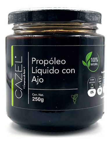 Imagen 1 de 3 de Propoleo Oaxaqueño Natural Concentrado Con Ajo 250g