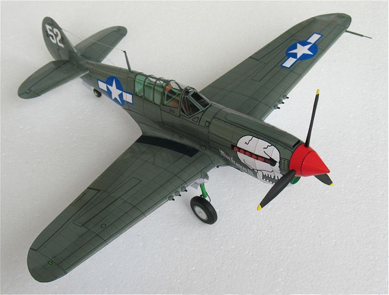 Curtiss P-40 N Kittyhawk Modelo De Papel 1/32